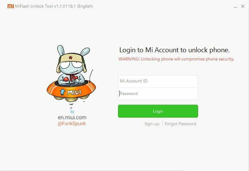 Xiaomi Unlock Tools 1